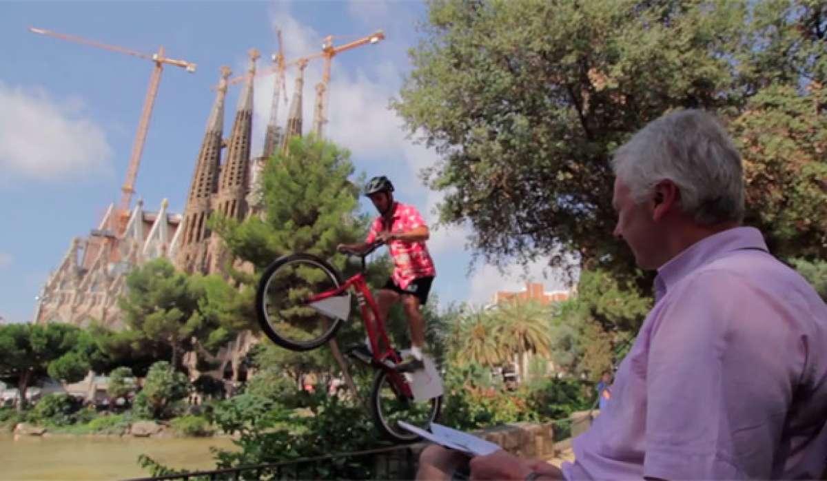Trial Biking por las calles de Barcelona con Pol Tarrés y Sergi Llongueras