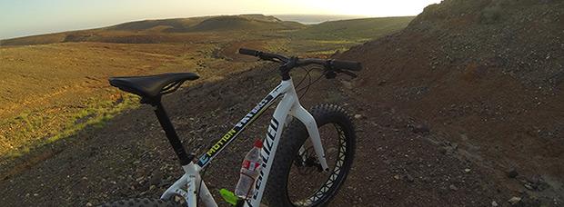 La foto del día en TodoMountainBike: 'Fat Bike en Lanzarote'