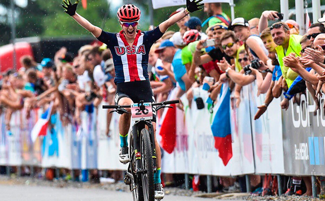 La final del Campeonato del Mundo XCO 2016 desde la bicicleta de Lea Davison