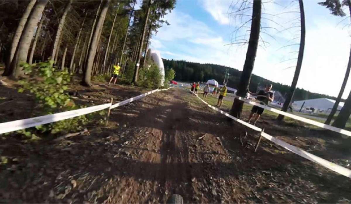 La final del Campeonato del Mundo XC Eliminator 2016 desde la bicicleta de Linda Indergand