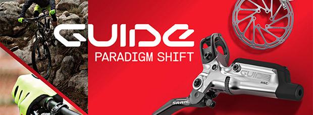 Pinzas S4 y otras mejoras para la gama de frenos SRAM Guide