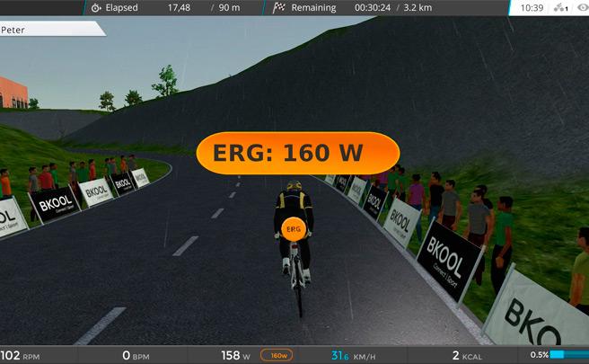 Nueva funcionalidad para el simulador de ciclismo BKOOL: Zonas de potencia con el modo ERG