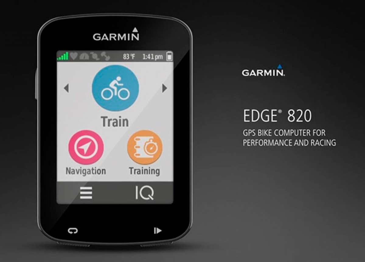 Garmin Edge 820, el ciclocomputador GPS más social