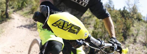 ¿Guardamanos para bicicletas como los de motocross? Sí, de la mano de AVS Racing