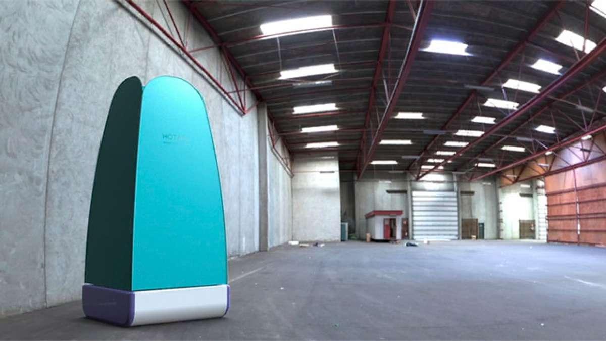 Hotaru, una interesante ducha portátil con sistema de reciclado de agua integrado