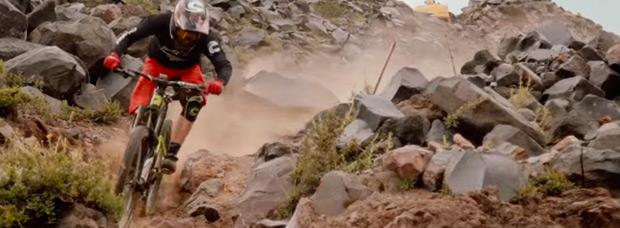 Rodando con Jérôme Clémentz en Nevados de Chillán (Chile)