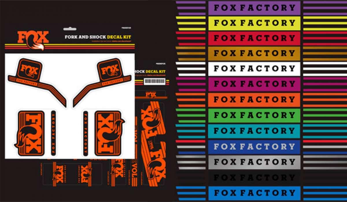 En TodoMountainBike: Nuevos kits adhesivos para todos los modelos de horquillas y amortiguadores de FOX