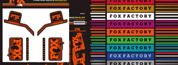 Nuevos kits adhesivos para todos los modelos de horquillas y amortiguadores de FOX