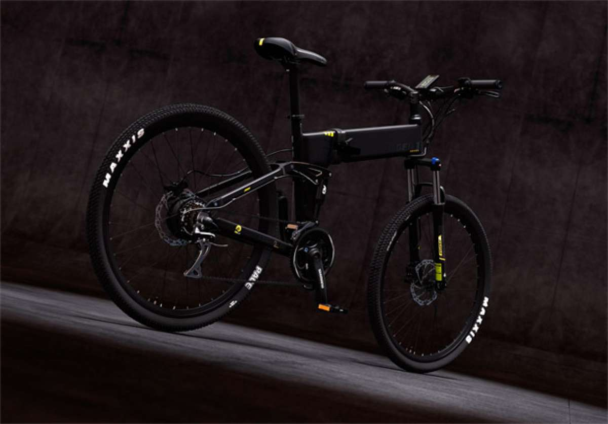 En TodoMountainBike: Legend Etna, una bicicleta de doble suspensión, plegable y eléctrica