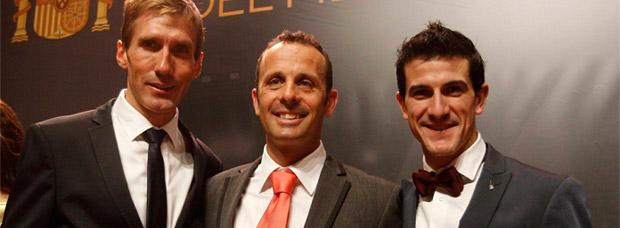 Medallas de la Real Orden del Mérito Deportivo para los ciclistas José Antonio Hermida, Carlos Coloma y Pablo Lastras