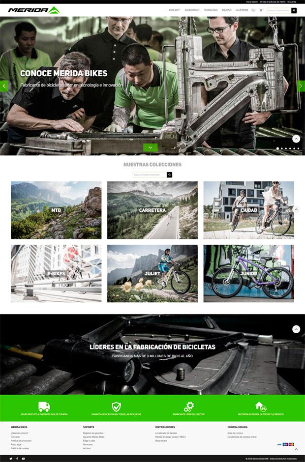 Merida Bikes renueva su página web, con venta online incluida