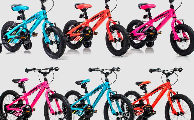 Novedades y mucho color en la nueva gama de bicicletas infantiles de Monty