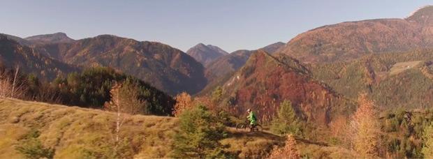 Practicando Mountain Bike en la región de Carintia (Eslovenia)
