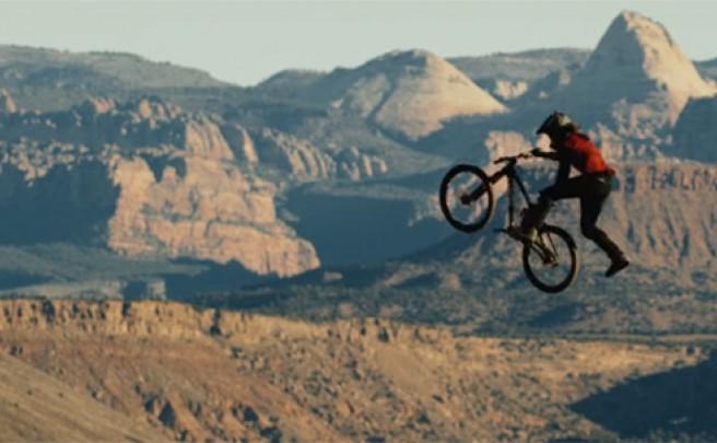 Practicando Mountain Bike en el desierto de Utah (EUA) con Cam McCaul