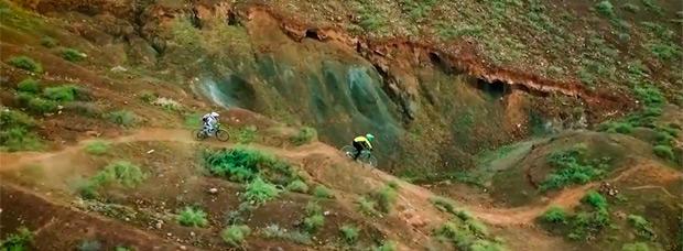 Mountain Bike en Fuerteventura (Islas Canarias) con Pietro Leon y Rob Stortoni