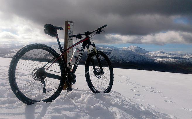 La foto del día en TodoMountainBike: 'Nieve en Moral (Cantabria)'