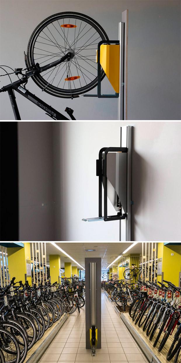 En TodoMountainBike: PARKIS, un innovador soporte vertical (y automático) para bicicletas