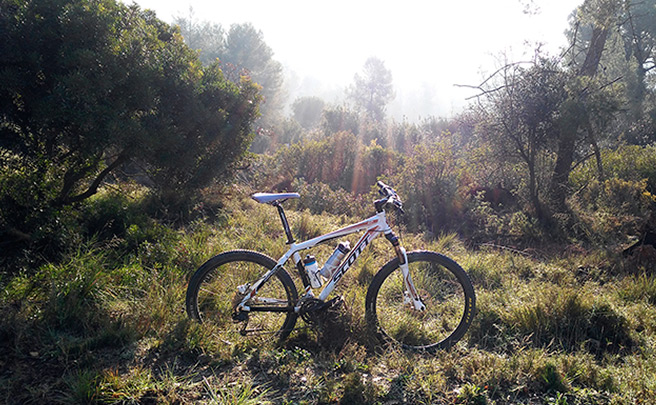 La foto del día en TodoMountainBike: 'Sun, Mountain and Bike'