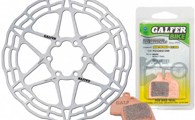 Nueva gama de pastillas y discos Galfer para bicicletas de Trial
