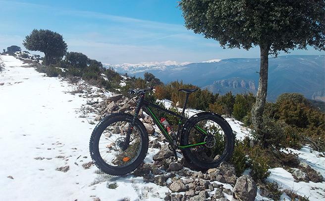 La foto del día en TodoMountainBike: 'Peña Saida en Fat Bike'