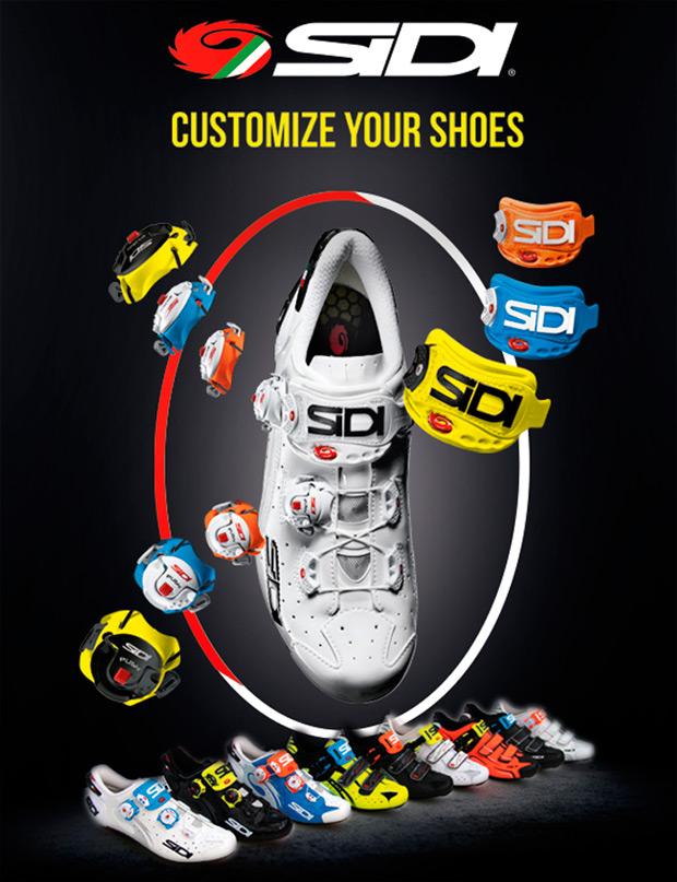 Las zapatillas para ciclistas de Sidi, ahora personalizables