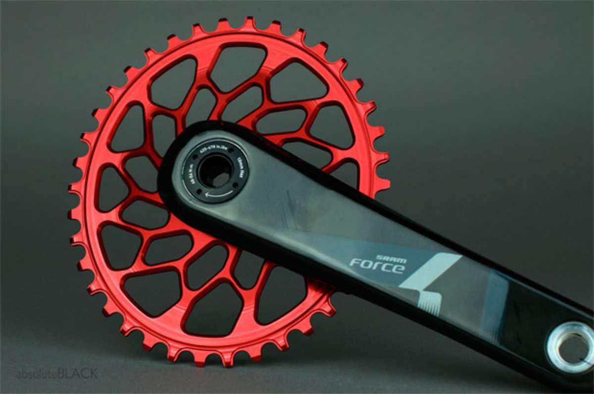 Nuevos platos ovalados de absoluteBLACK para bicicletas de ciclocross