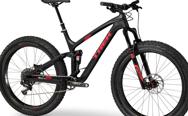 Trek Farley EX, una 'Fat Bike' de doble suspensión dispuesta a todo