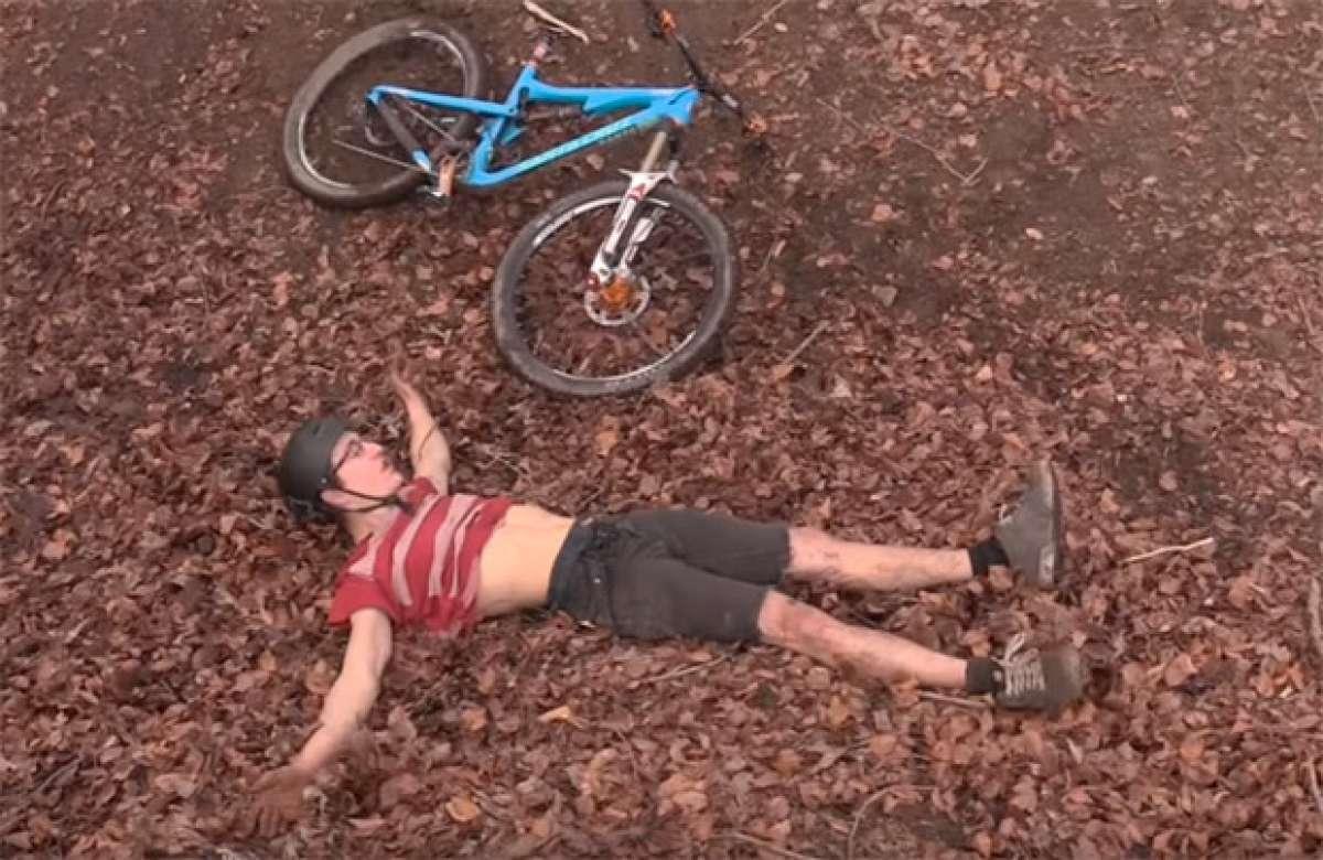Recopilación de caídas sobre una Mountain Bike
