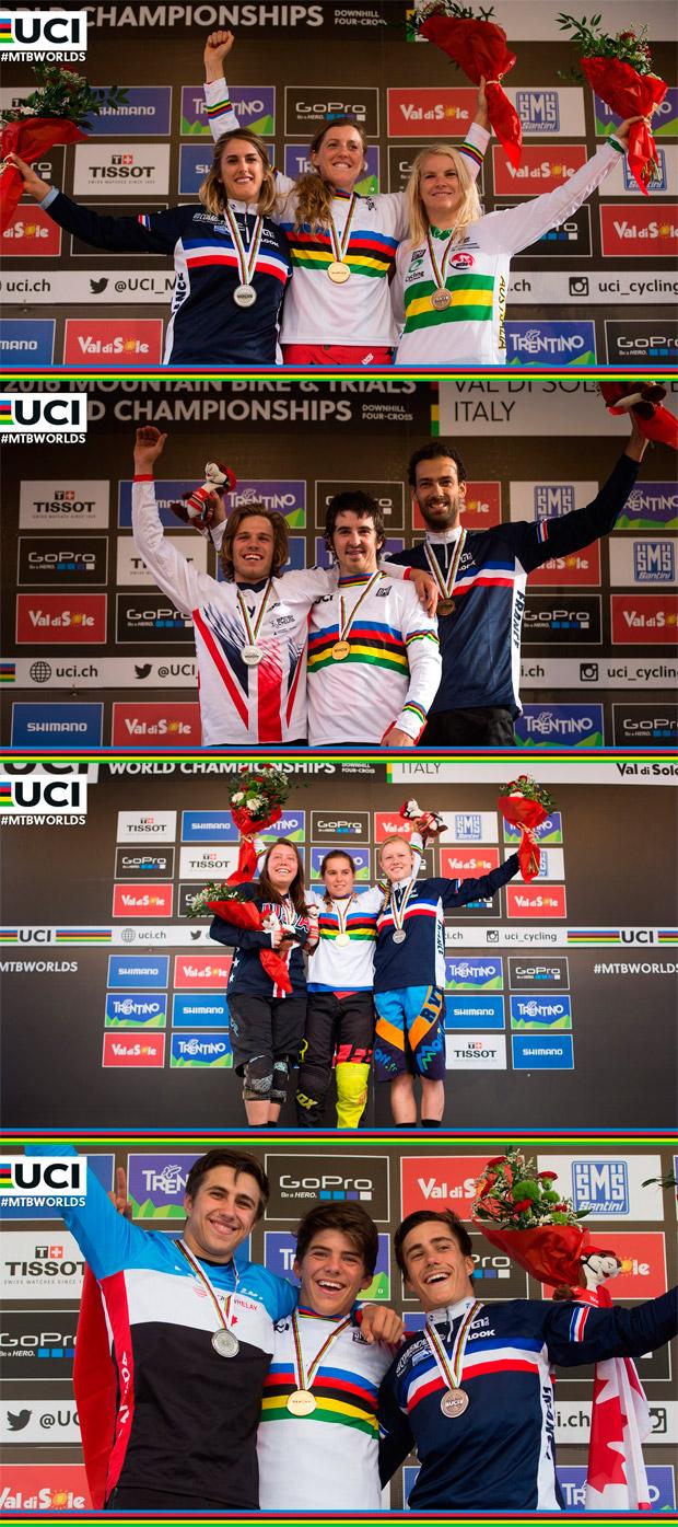 Rachel Atherton y Danny Hart, vencedores del Campeonato del Mundo UCI DHI 2016