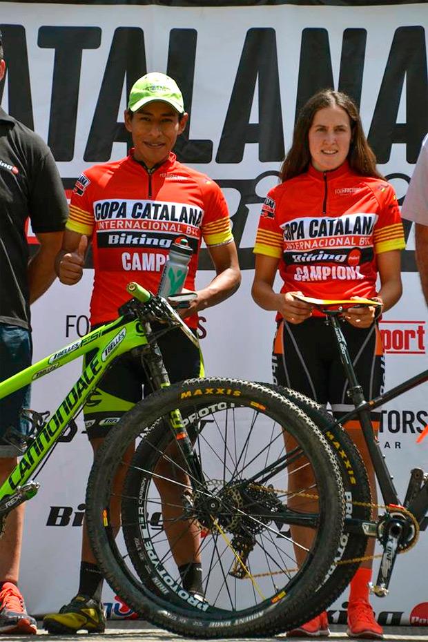 Ever Alejandro Gómez y Sara Gay, vencedores de la Copa Catalana Internacional BTT Biking Point 2016