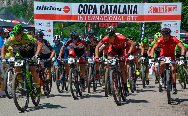 Ever Alejandro Gómez y Sara Gay, vencedores de la Copa Catalana Internacional BTT Biking Point 2016