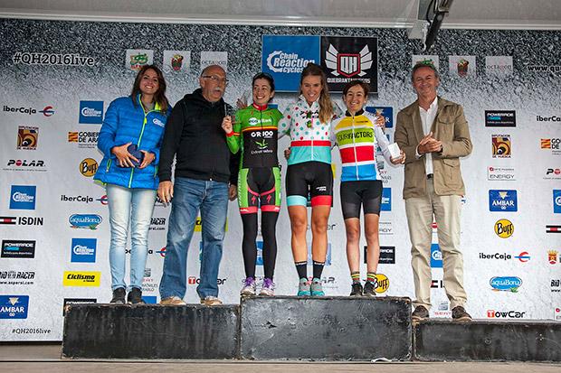 Ramón Sagués y Clàudia Galicia, vencedores de la Quebrantahuesos MTB 2016