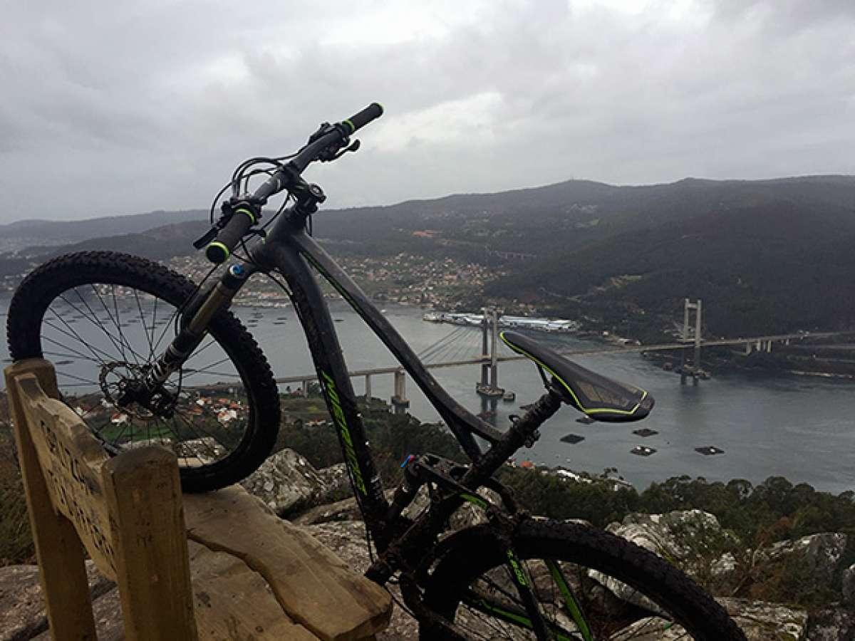 La foto del día en TodoMountainBike: 'Hacia la ría de Vigo'