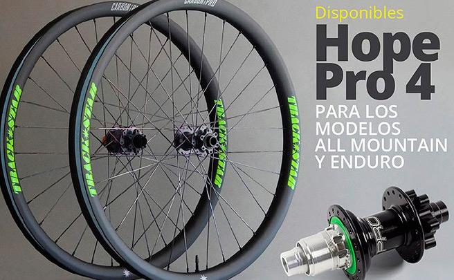 Bujes Hope Pro 4 para las ruedas de carbono de Trackstar