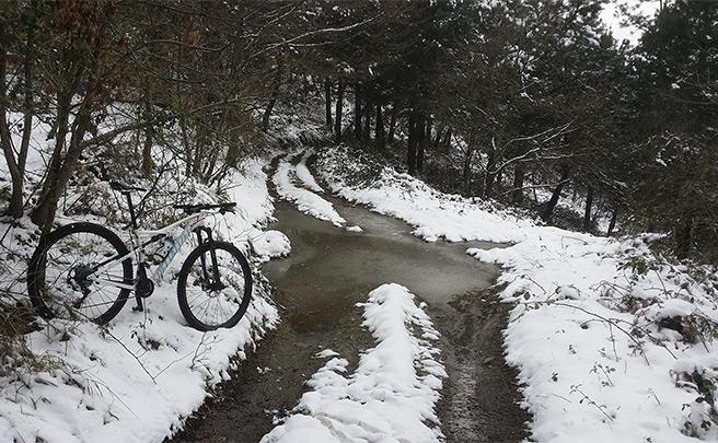 La foto del día en TodoMountainBike: 'Las bicicletas no solo son para el Verano'
