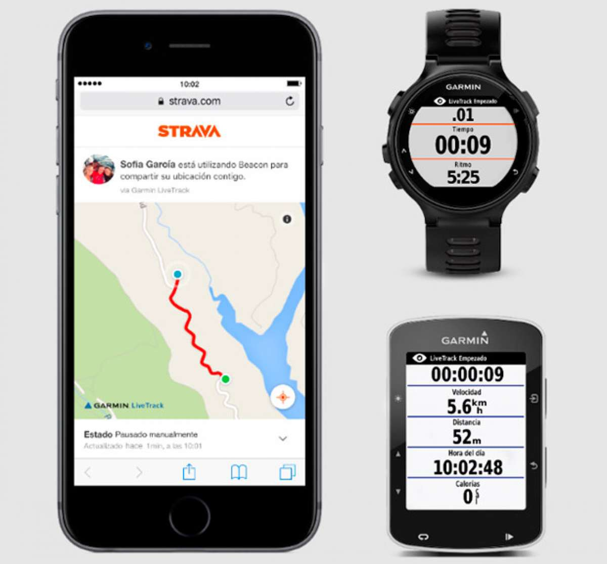 La función de seguridad Strava Beacon, ya disponible en los dispositivos de Garmin