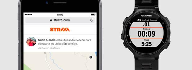 La función de seguridad Strava Beacon, ya disponible en los dispositivos de Garmin