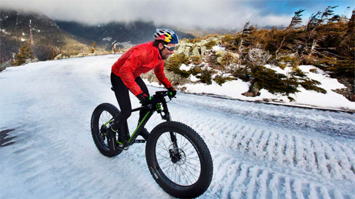 "Ascendiendo el Monte Washington en ""Fat Bike"" con Tim Johnson"