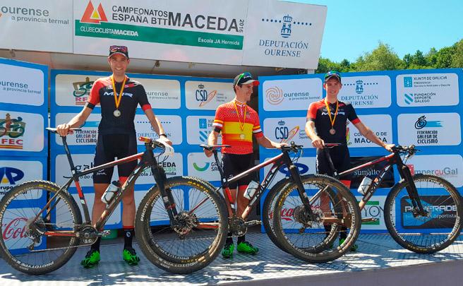 Triplete del MMR Factory Racing en el Campeonato de España XCO de Maceda