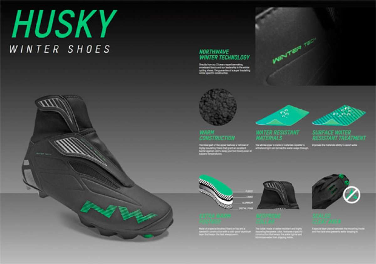 Northwave Husky, unas zapatillas invernales para ciclistas de precio competitivo