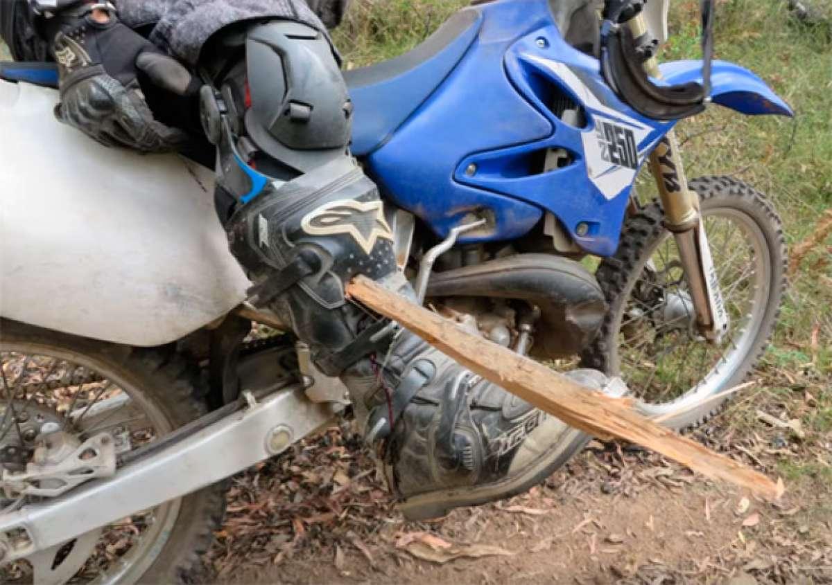 En TodoMountainBike: Accidente de motocross, o por qué sobre las dos ruedas hay que tener cuidado con troncos, ramas y raíces