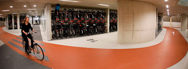 Así será el mayor aparcamiento público de bicicletas del mundo, en Holanda