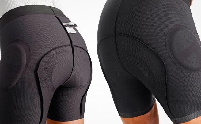 ASSOS S7, culottes con protecciones integradas en la cadera para ciclistas de montaña