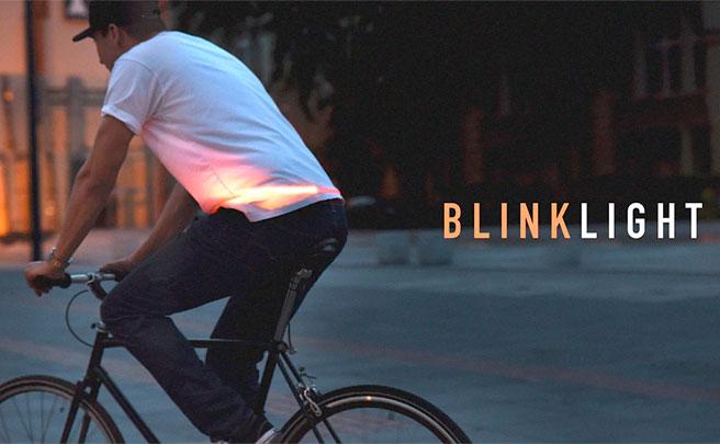 BlinkLight, luces inteligentes en formato 'vestible' para mejorar la seguridad de los ciclistas