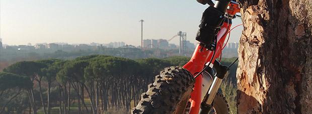 La foto del día en TodoMountainBike: 'En lo alto de la Casa de Campo'