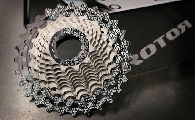 Cassette ROTOR UNO, ligereza y fiabilidad para bicicletas de carretera, triatlón y ciclocross