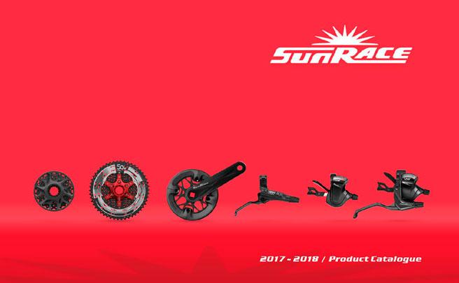 Catálogo de SunRace 2018. Toda la gama de componentes SunRace para la temporada 2018