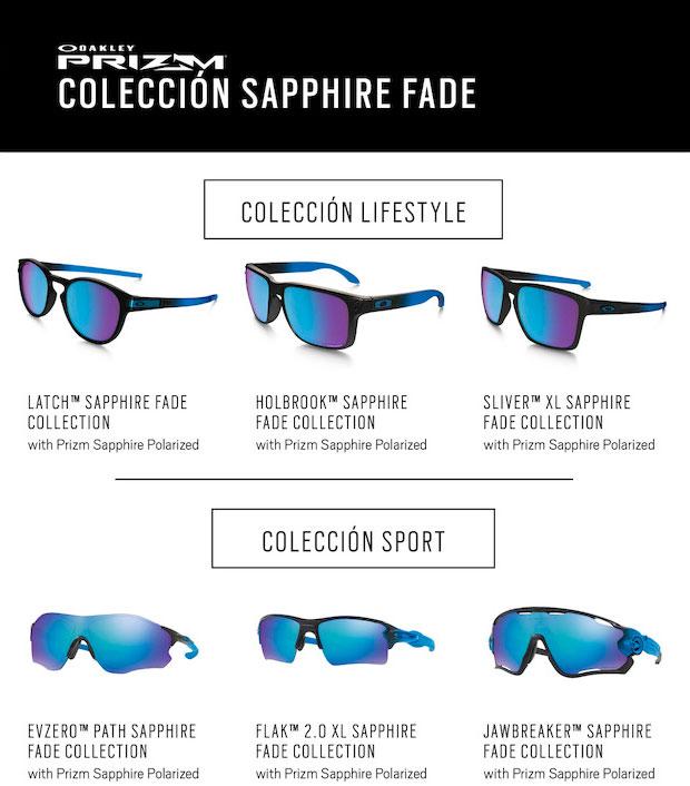 Lentes Prizm Sapphire para la colección de gafas Oakley Sapphire Fade Collection