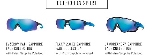 Lentes Primz Sapphire para la colección de gafas Oakley Sapphire Fade Collection