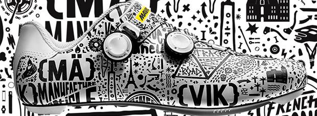 Llamativa edición limitada París-Niza de Mavic con zapatillas, maillot y gorra a juego